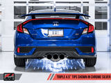 Track Edition Exhaust w/ Front Pipe for 2017+ Honda Civic Si - Two Step Performance