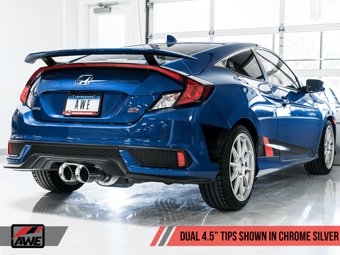 Dual Tip Conversion Kit for 2017+ Honda Civic Si & Type R FK8 - Two Step Performance