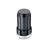 McGard SplineDrive Lug Nut (Cone Seat) M14X1.5 / 1.648in. Length (4-Pack) - Black (Req. Tool) - Two Step Performance