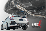 Spec I Catback Exhaust for 2017+ Honda Civic Type R FK8 - Two Step Performance