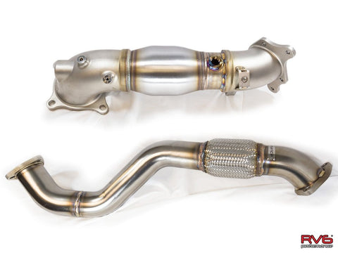 Catted Downpipe & Front Pipe Combo for 17+ Civic Type R 2.0T FK8 - Two Step Performance