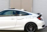 Rear Visor for 2016+ Honda Civic Coupe - Two Step Performance