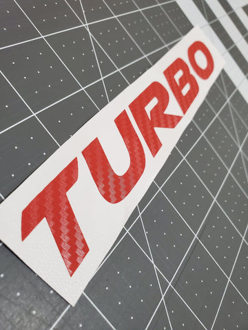 Turbo Decal - Two Step Performance
