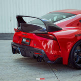 MB-Style Carbon Fiber Rear Spoiler for 2020+ Toyota Supra - Two Step Performance