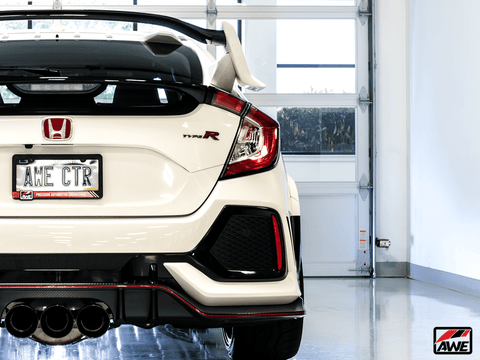Track Edition Exhaust Triple Tips w/ Front Pipe for 2017+ Honda Civic Type R FK8 - Two Step Performance