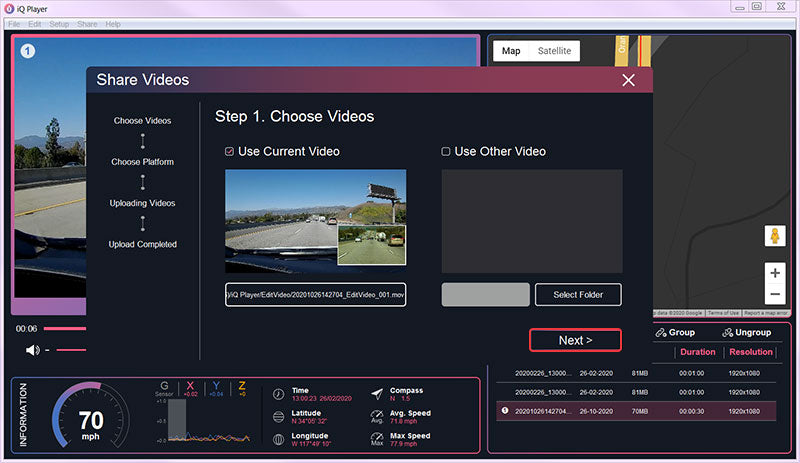31 The video sharing window will pop up, please click Next to continue