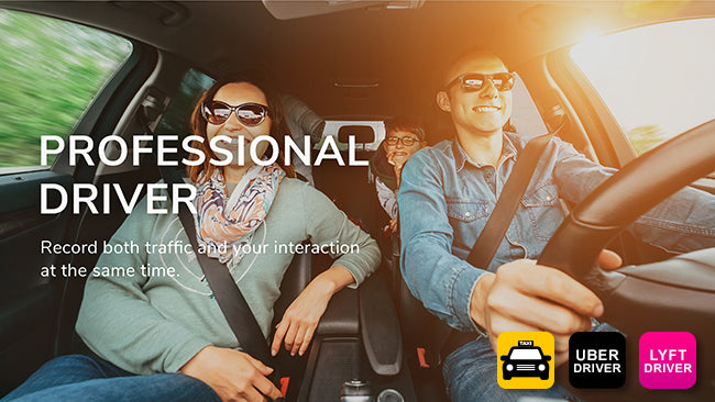 Dash Cam for Lyft Uber Taxi professional drivers