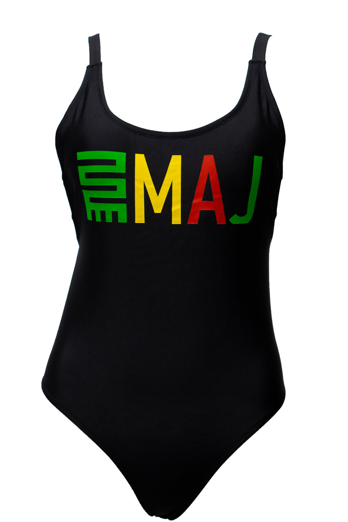 IRIE VIBES SWIM/BODY SUIT - BLACK