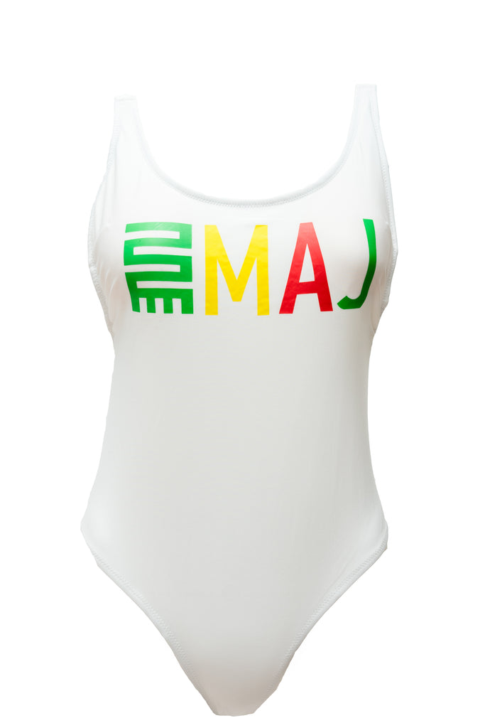 IRIE VIBES SWIM/BODY SUIT -WHITE
