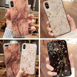 Luxury Foil Bling Marble Case for iPhone
