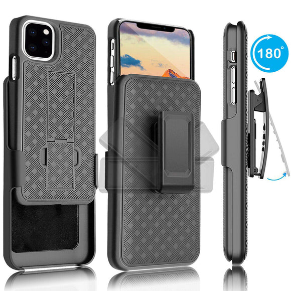 Shockproof Case with Kickstand Belt Clip Holster for iPhone