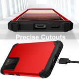 For Samsung Galaxy S21/S21 Ultra/S21 Plus Hybrid Rugged Shockproof PC Case Cover