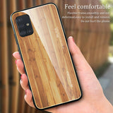 Slim Wood Pattern Tempered Glass Case For Samsung - carolay.co phone case shop