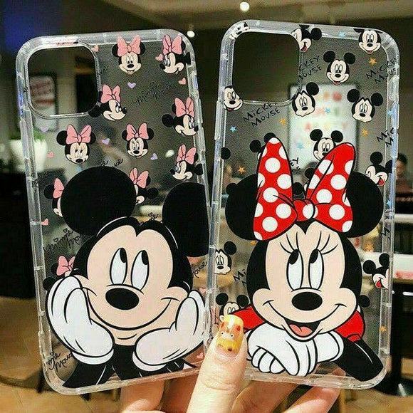 Soft Rubber Slim Mickey Mouse Case for iPhone 12 / 12 Pro Max