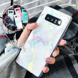 Ultra Slim Marble Pattern Soft Silicone Back Case For Samsung - carolay.co phone case shop