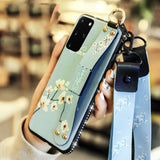 Plus Bling Handle Strap Leather Case For Samsung Galaxy - carolay.co phone case shop