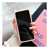 Cute Cat Silicone Fitted Cover for iPhone