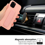 Magnetic Leather Hand Strap Stand Holder Case For iPhone - carolay.co phone case shop