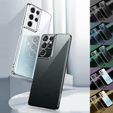 Soft Clear Plating Back Case For Samsung Galaxy S21/Plus/Ultra