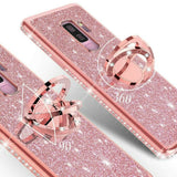 Bling Glitter Ring Stand Back Case for Samsung Galaxy S20/Plus/Ultra