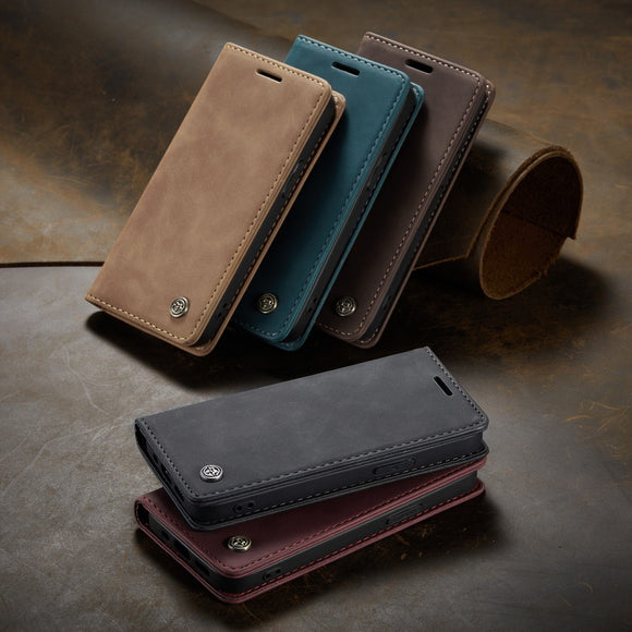 Magnetic Leather Flip Case Leather Fitted Bumper Soft Retro For iPhone - carolay.co - free shipping
