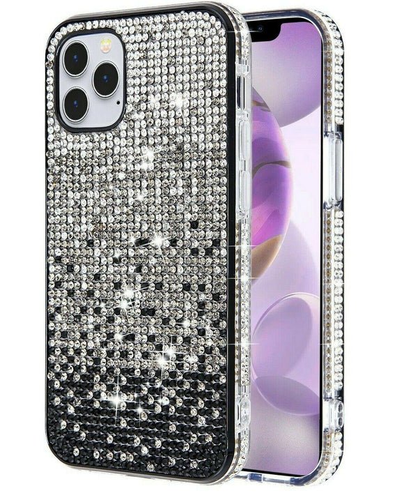 Diamond Bling Crystal Case Black iPhone 12 /12 Pro Max