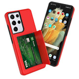 Wallet Case with Card Holder for Samsung Galaxy S21 Plus/S21 Ultra 5G
