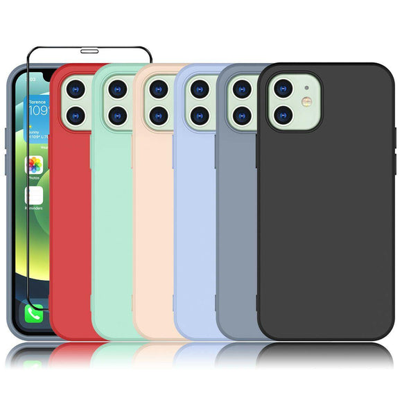 Liquid Silicone Case Soft for iPhone 12 Pro/Max/Mini