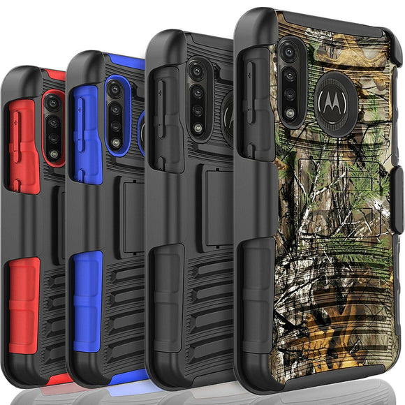 Case Belt Clip Shockproof Rugged for Moto G Power/Stylus