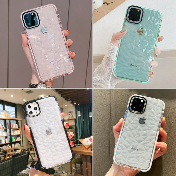 Case Clear Diamond Cute Shockproof for iPhone 11/12
