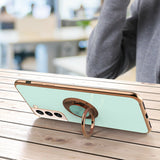 Slim Plating Ring Holder Stand Case for Samsung Galaxy S21/Ultra/Plus