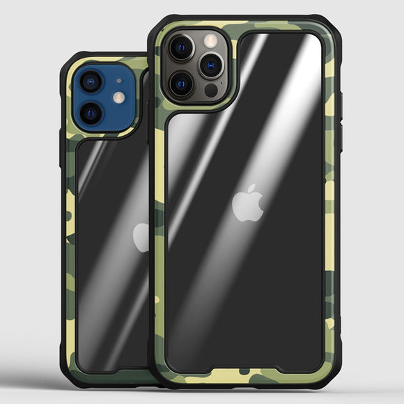 Camouflage Case Support Wireless Charging for iPhone 12