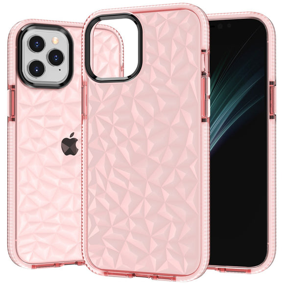 Case Crystal Clear Slim Diamond Pattern Soft Anti Scratch Shockproof for iPhone - carolay.co - free shipping