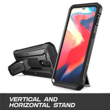 OnePlus 7  Rugged Case with Kickstand Holster, Full-Body Dual-Layer Shockproof Protective Cover, Built-in-Screen Protector - carolay.co phone case shop