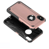 Carbon Fiber Case Shockproof Double Layer Rubber Tempered Glass Screen For iPhone - carolay.co phone case shop