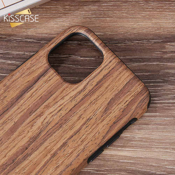 Silicone Plain Case For iPhone Vintage Wood Striped Back Cover - carolay.co phone case shop