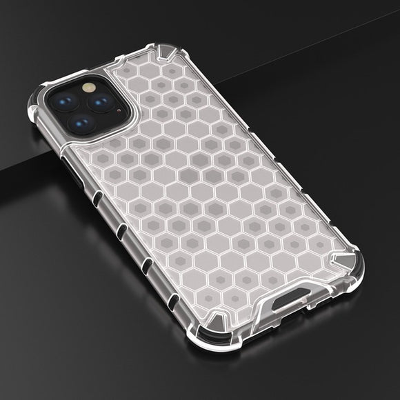 Hybrid TPU + PC Armor Case Honeycomb Clear Shockproof Case - carolay.co phone case shop