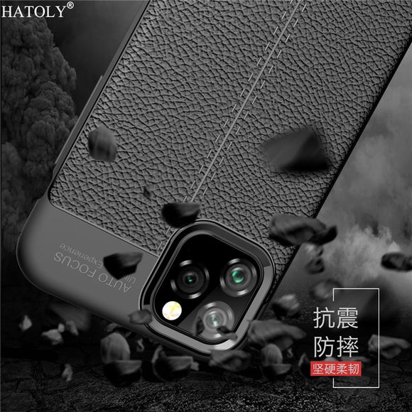 Shockproof Leather TPU Soft Cover For iPhone 11 Silicone - carolay.co phone case shop