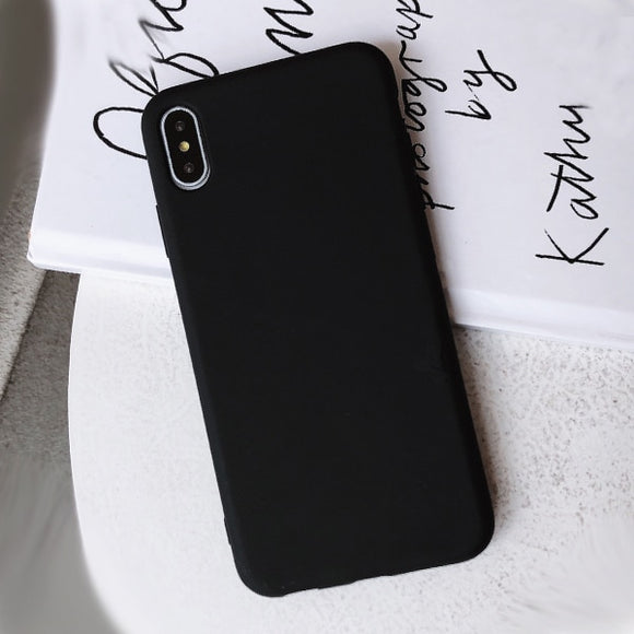 Candy Solid Color Soft Silicone Phone Case For iPhone 11 Pro Max - carolay.co phone case shop