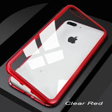 Magnetic Metal Case For iPhone 11 Pro Max Hybrid Bumper Clear Glass Back - carolay.co phone case shop