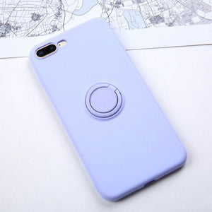 Soft Silicone Case For  iPhone 11 Pro Max Ring Holder - carolay.co phone case shop