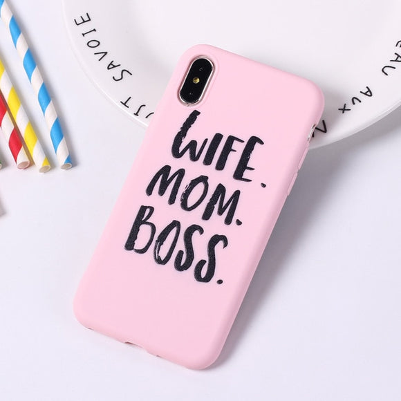 Graffiti Candy Color Back Cover Lovely Letter Quote Soft Phone Case  For iPhone 11 - carolay.co phone case shop