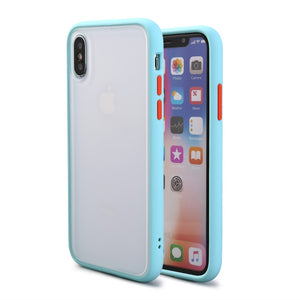 Silicone Frame Phone Case For iPhone Matte Protection Bumper - carolay.co phone case shop