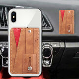 Universal mobile phone bracket with multifunctional leather wallet - carolay.co phone case shop