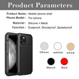 360 Full Protect Metal Aluminum Phone Case for iPhone - carolay.co phone case shop