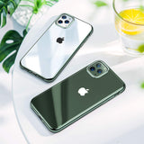Ultra Slim Thin Clear Soft Flexible Chrome Bumper Transparent Cover - carolay.co phone case shop