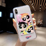 Cute Powerpuff Girls Policemen INS Phone Case Cartoon Cover - carolay.co phone case shop