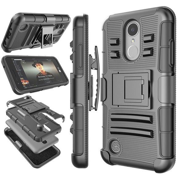 Belt Clip Hard Armor Kickstand Case for LG - carolay.co phone case shop