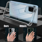Fitted Case Transparent Light And Anti-knock Shock Absorption Case Cover For  Samsung S20 PLus - carolay.co phone case shop
