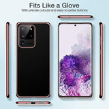 Light Transparent Plating Clear Soft Silicone Case Cover For Samsung  S20 Ultra - carolay.co phone case shop